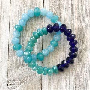 Jewelry - Blue stretch bracelets